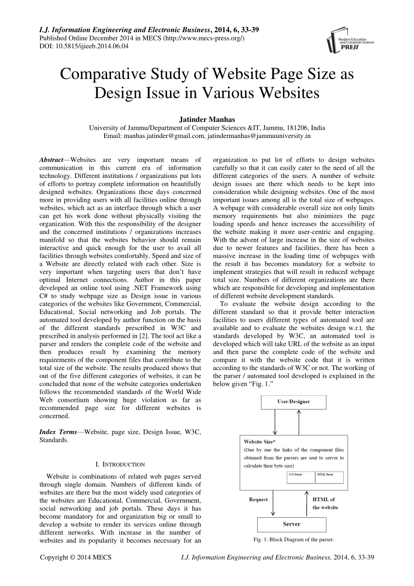 hight resolution of  pdf comparative study of website page size as design issue in various websites