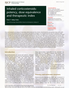 Pdf inhaled corticosteroids potency dose equivalence and therapeutic index also rh researchgate