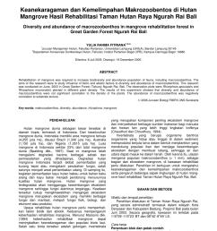 pdf diversity and abundance of macrozoobenthos in mangrove rehabilitation forest in great garden forest ngurah rai bali [ 850 x 1203 Pixel ]