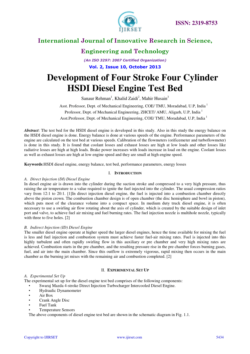 medium resolution of  pdf development of four stroke four cylinder hsdi diesel engine test bed