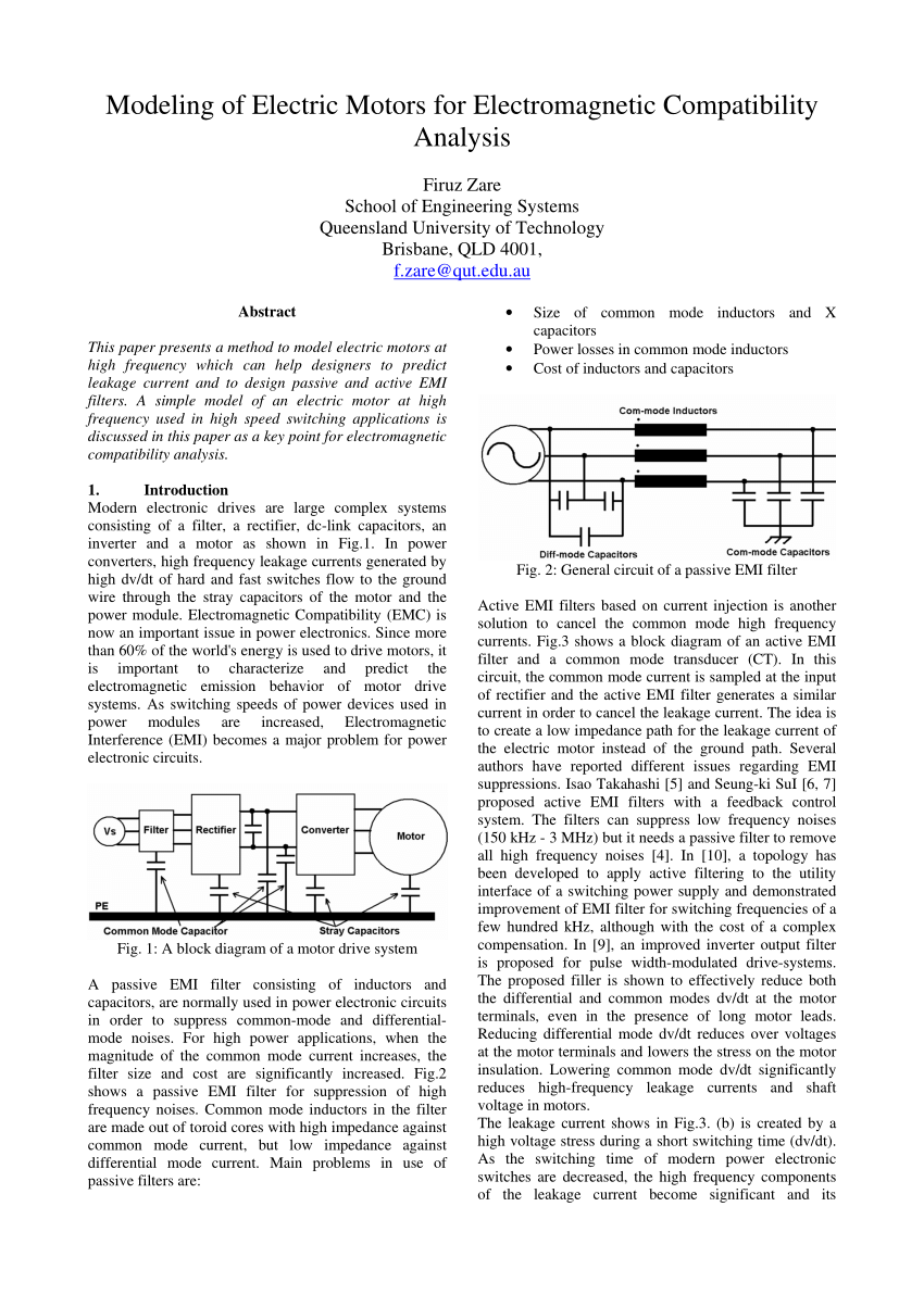 medium resolution of  pdf modeling of electric motors for electromagnetic compatibility analysis