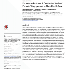 Philip Sofaer Capital Recliner Sofa Sets In Dubai Pdf Patients As Partners A Qualitative Study Of Engagement Their Health Care