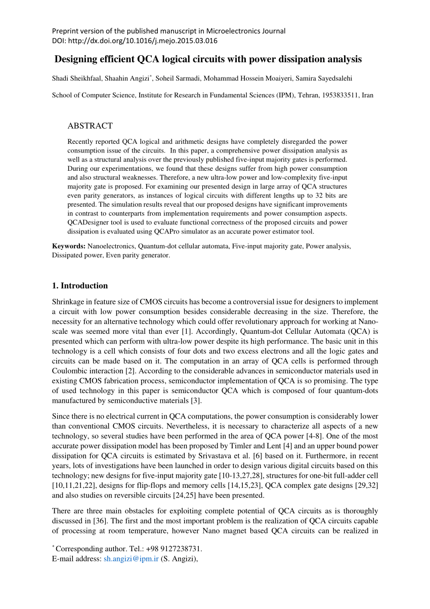 hight resolution of  pdf universal shift register implementation using quantum dot cellular automata