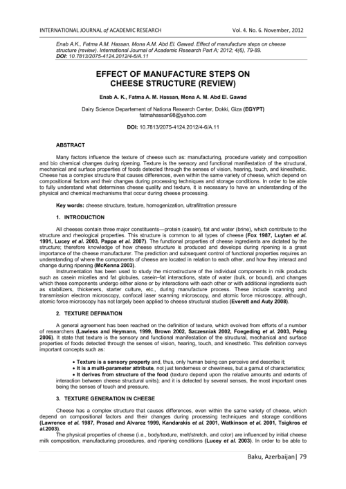 small resolution of  pdf effect of manufacture steps on cheese structure review