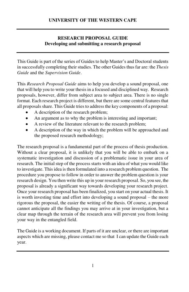 PDF) Research Proposal Guide