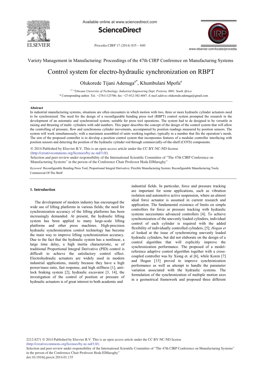 hight resolution of  pdf control system for electro hydraulic synchronization on rbpt