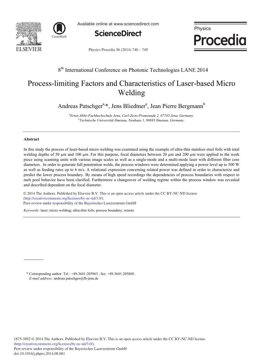 hight resolution of theoretical and experimental analysis of the remote welding process on thin lap joined aisi 304 sheets request pdf
