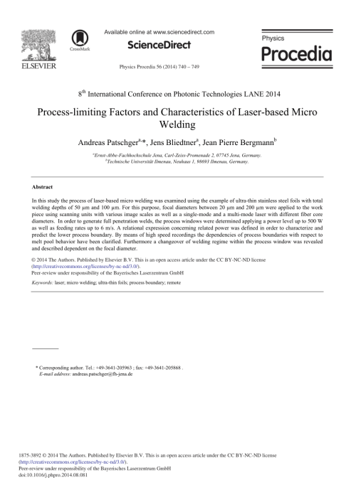 small resolution of theoretical and experimental analysis of the remote welding process on thin lap joined aisi 304 sheets request pdf