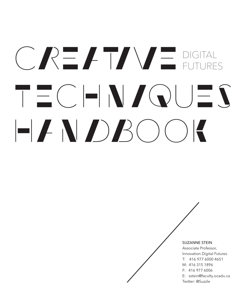 (PDF) Creative Techniques Handbook 2014