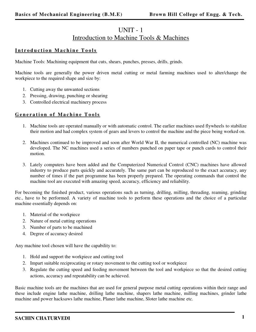 medium resolution of  pdf introduction to machine and machine tools