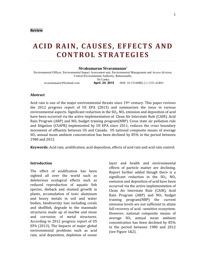 medium resolution of  pdf acid rain causes effects and control strategies