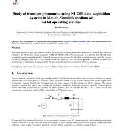 pdf study of transient phenomena using ni usb data acquisition systems in matlab simulink medium on 64 bit operating systems [ 850 x 1203 Pixel ]