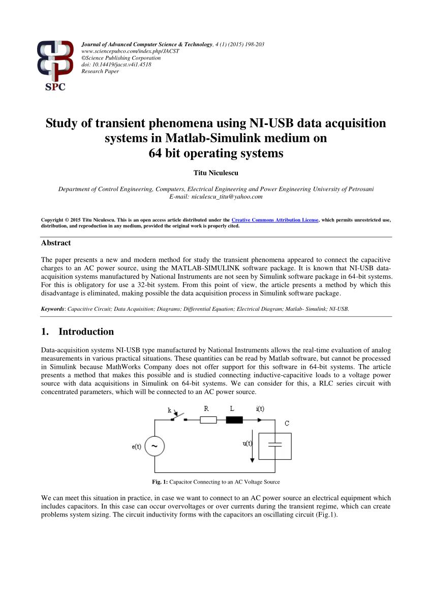 medium resolution of  pdf study of transient phenomena using ni usb data acquisition systems in matlab simulink medium on 64 bit operating systems