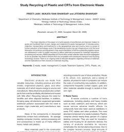 pdf study recycling of plastic and crts from electronic waste [ 850 x 1169 Pixel ]