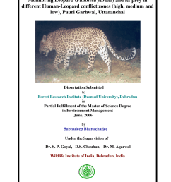 pdf monitoring leopard panthera pardus and its prey in different human leopard conflict zones high medium and low pauri garhwal uttaranchal [ 850 x 1203 Pixel ]