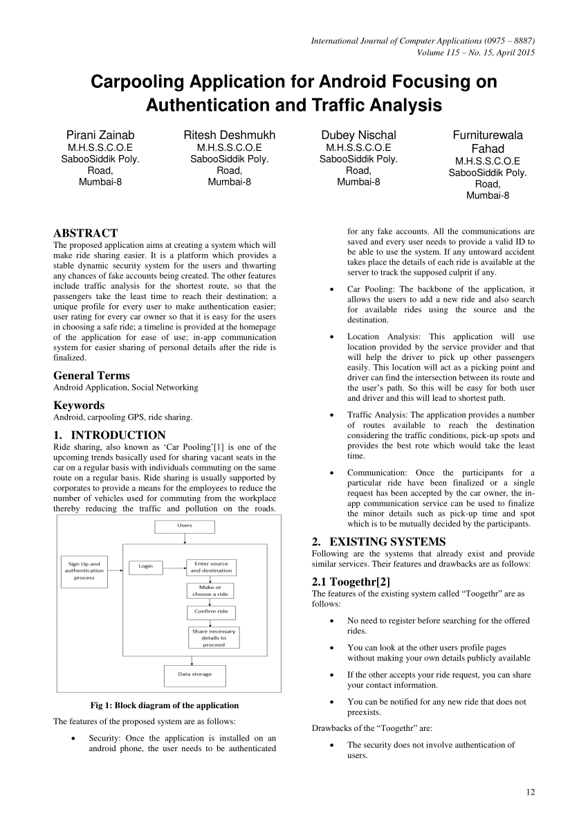 hight resolution of  pdf carpooling application for android focusing on authentication and traffic analysis