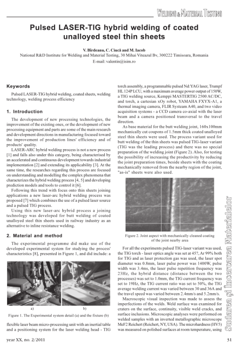 small resolution of  pdf pulsed laser tig hybrid welding of coated unalloyed steel thin sheets