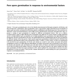 pdf fern spore germination in response to environmental factors [ 850 x 1122 Pixel ]