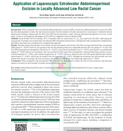 extralevator versus conventional abdominoperineal resection for rectal cancer a systematic review and meta analysis ionut negoi request pdf [ 850 x 1153 Pixel ]