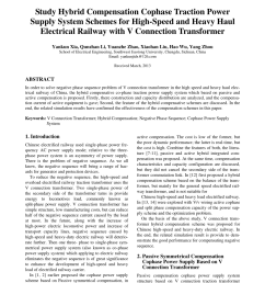 pdf study hybrid compensation cophase traction power supply system schemes for high speed and heavy haul electrical railway with v connection transformer [ 850 x 1155 Pixel ]