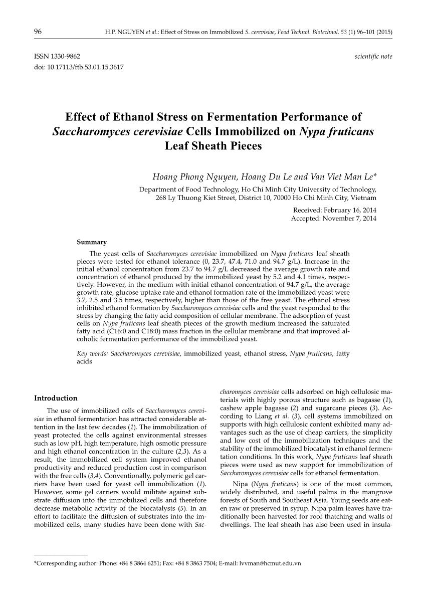 pdf effect of ethanol