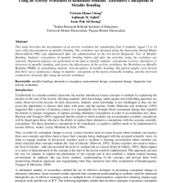 PDF) Using an Activity Worksheet to Remediate Students' Alternative  Conceptions of Metallic Bonding [ 1100 x 850 Pixel ]