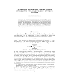 pdf conversion of the state space representations of continuous time dynamical systems into differential equations [ 850 x 1100 Pixel ]
