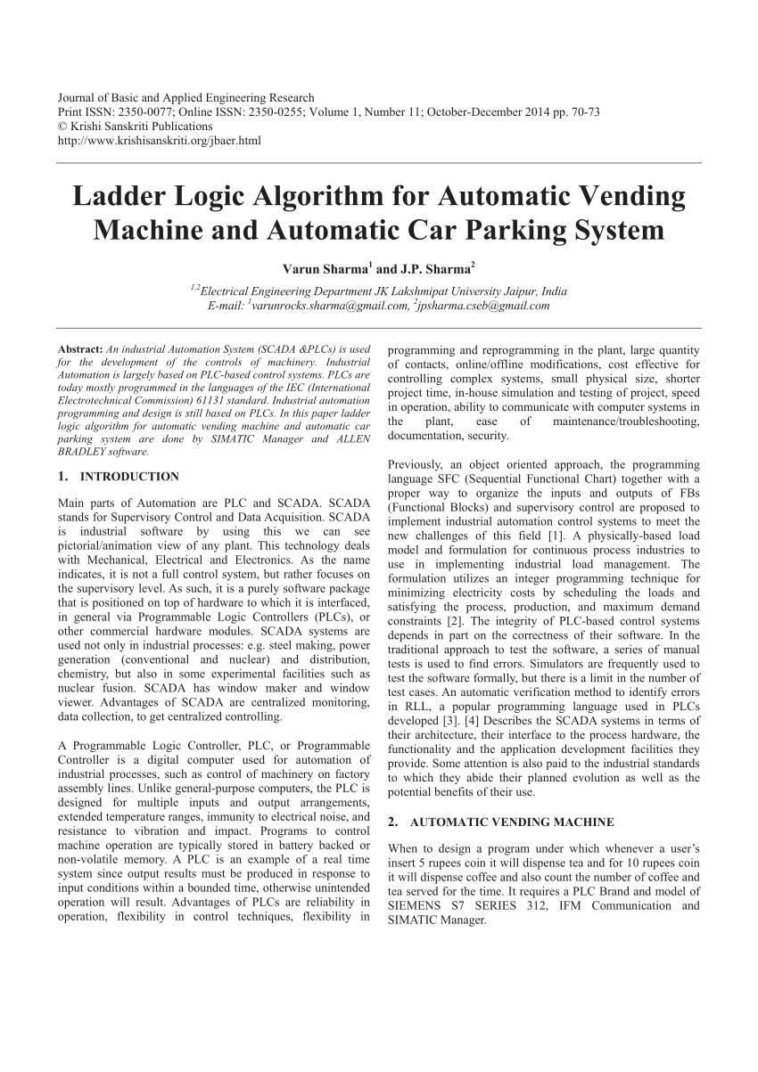 medium resolution of  pdf ladder logic algorithm for automatic vending machine and automatic car parking system