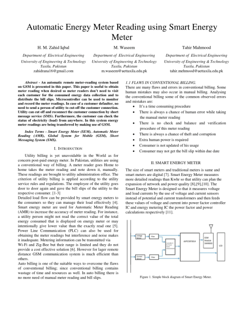 small resolution of  pdf automatic energy meter reading using smart energy meter