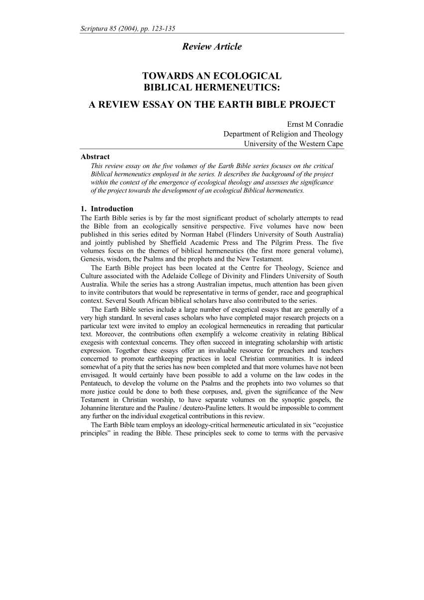 hight resolution of  pdf towards an ecological biblical hermeneutics a review essay on the earth bible project