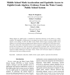 PDF) Middle School Math Acceleration and Equitable Access to Eighth-Grade  Algebra: Evidence From the Wake County Public School System [ 1237 x 850 Pixel ]
