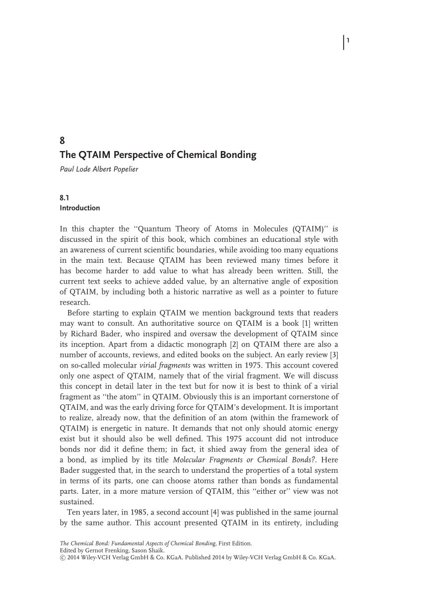medium resolution of  pdf the chemical bond fundamental aspects of chemical bonding