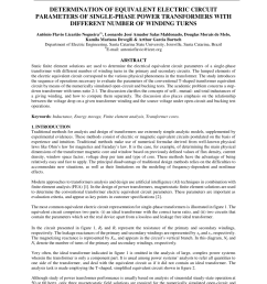 pdf determination of equivalent electric circuit parameters of single phase power transformers with different number of winding turns [ 850 x 1100 Pixel ]