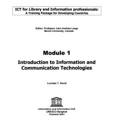 PDF) Introduction to information and communication technologies - Module 1 [ 1101 x 850 Pixel ]
