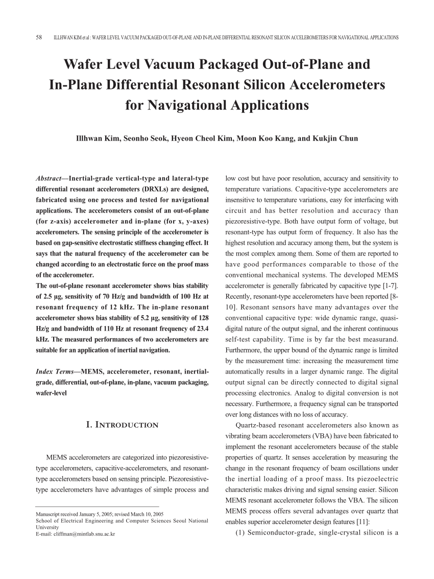 hight resolution of  pdf the silicon oscillating accelerometer a mems inertial instrument for strategic missile guidance