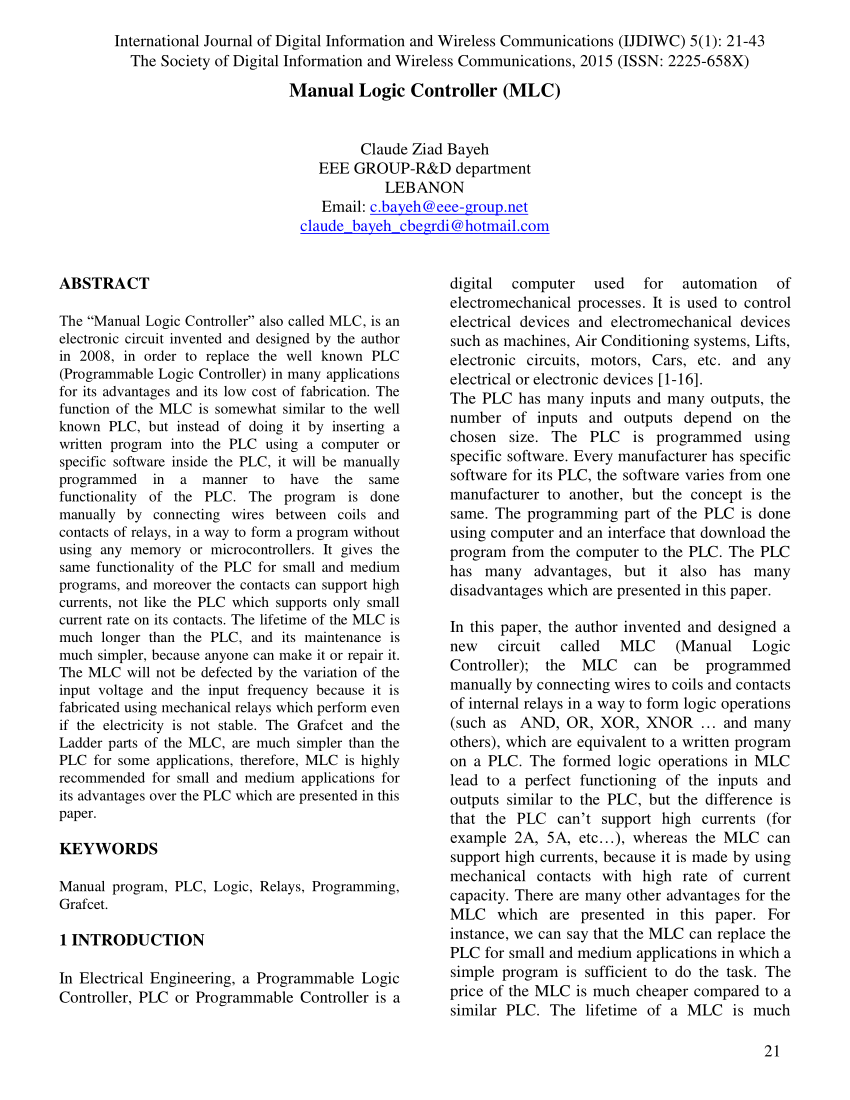 medium resolution of  pdf manual logic controller mlc