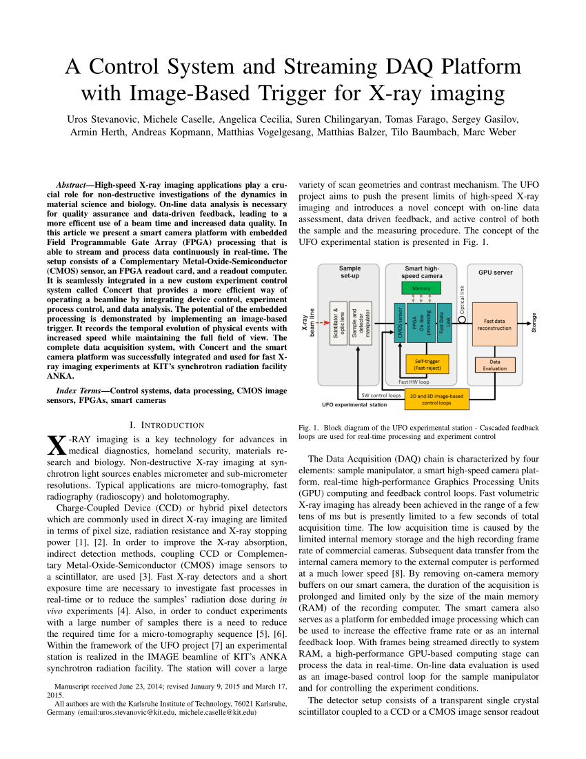 medium resolution of  pdf a control system and streaming daq platform with image based trigger for x ray imaging