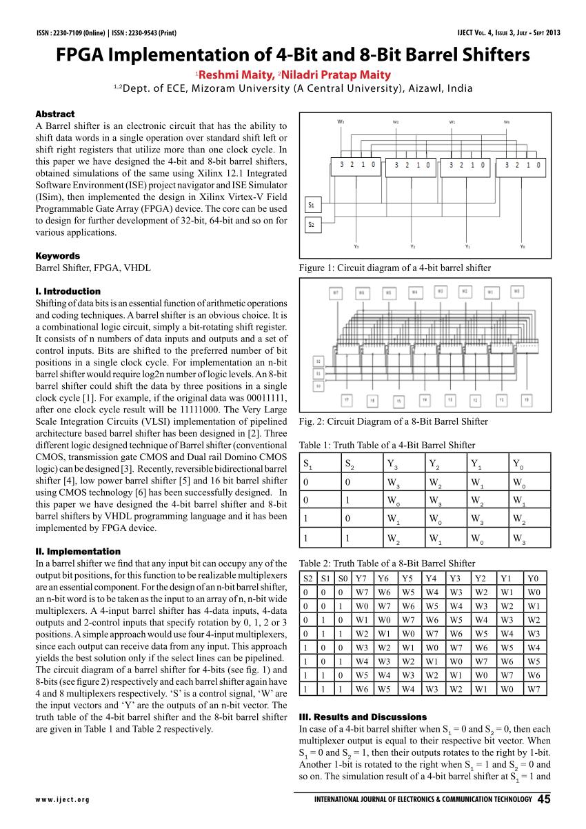 medium resolution of  pdf fpga implementation of 4 bit and 8 bit barrel shifters