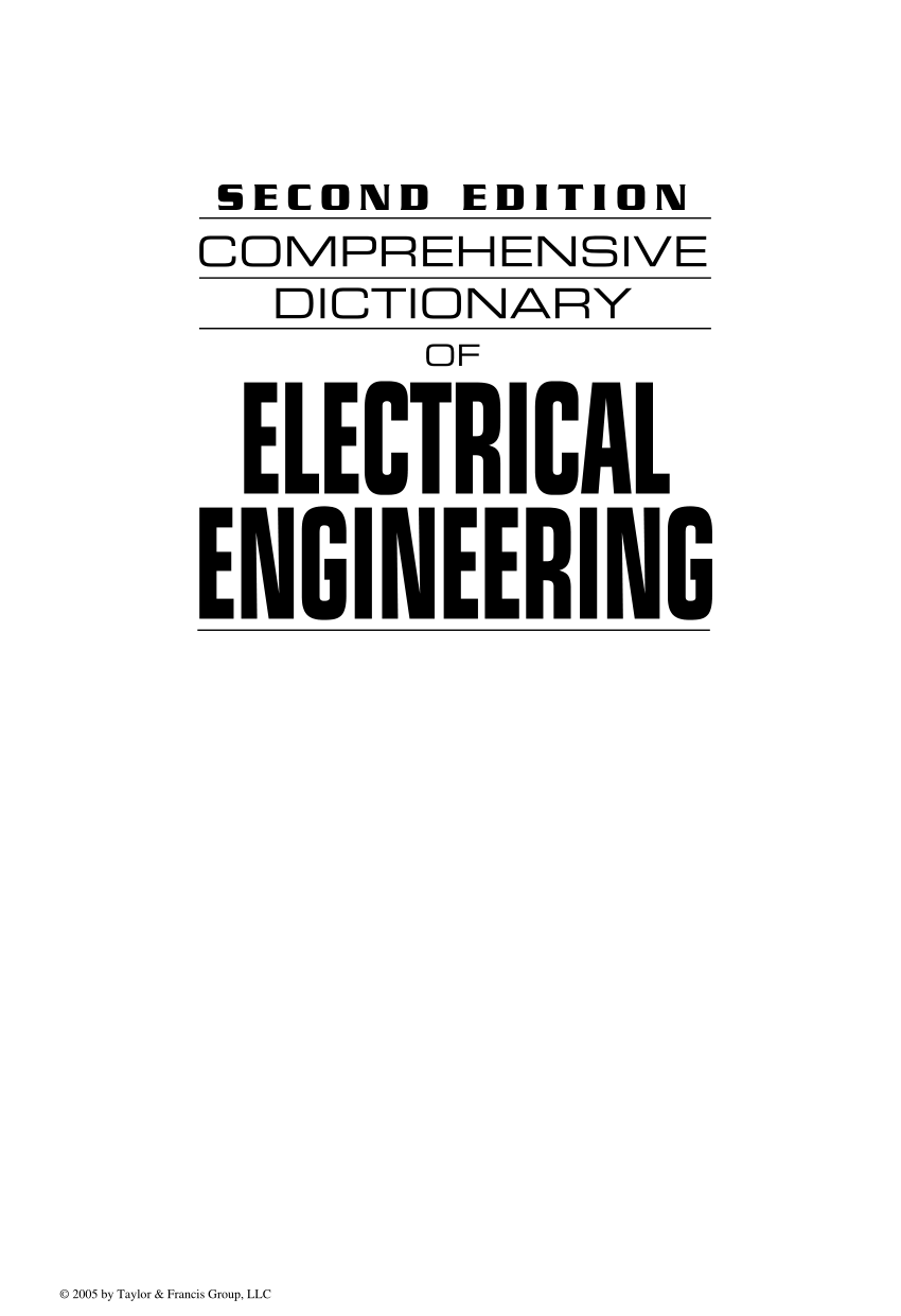 (PDF) Comprehensive Dictionary of Electrical Engineering