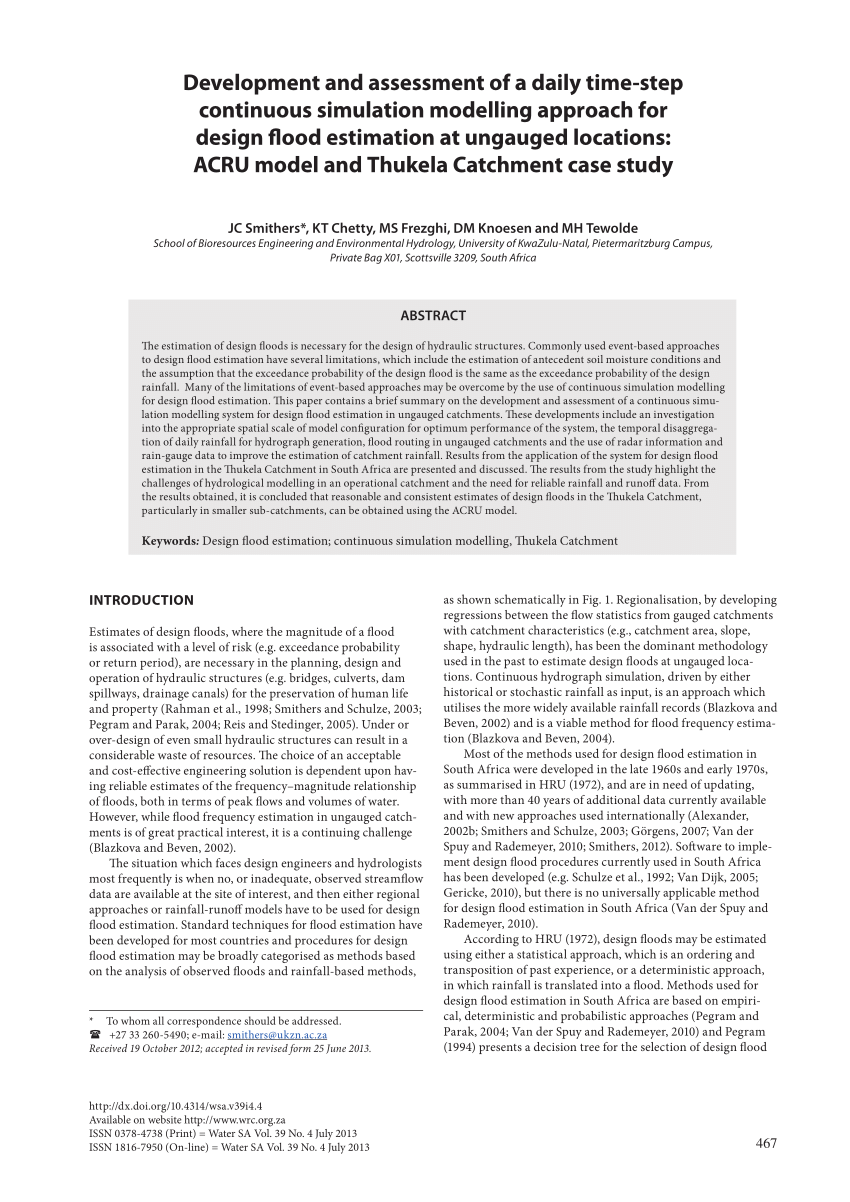 (PDF) Development and assessment of a daily time-step