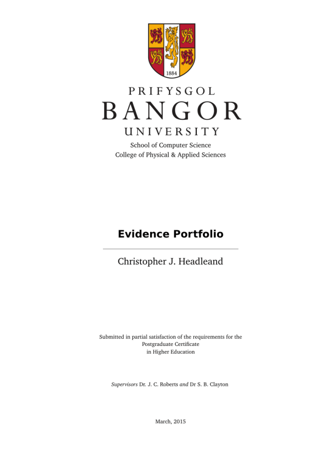 PDF) Evidence Portfolio