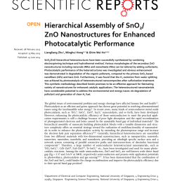 pdf hierarchical assembly of sno2 zno nanostructures for enhanced photocatalytic performance [ 850 x 1118 Pixel ]