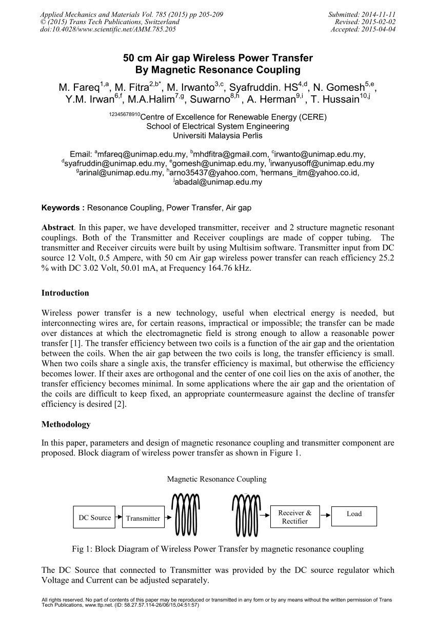 hight resolution of  pdf 50 cm air gap wireless power transfer by magnetic resonance coupling