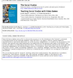 PDF) Teaching Social Studies with Video Games [ 1100 x 850 Pixel ]