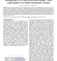 pdf development of a microcontroller based traffic light system for road intersection control [ 850 x 1100 Pixel ]