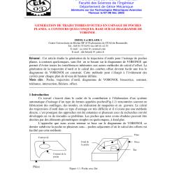 pdf generation de trajectoires d outils en usinage de poches planes a contours quelconques base sur le diagramme de voronoi [ 850 x 1100 Pixel ]