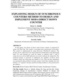 pdf the design of the moebius mod 6 counter using electronic workbench software [ 850 x 1203 Pixel ]