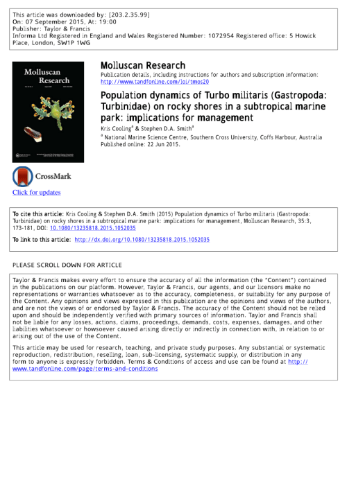 small resolution of  pdf population dynamics of turbo militaris gastropoda turbinidae on rocky shores in a subtropical marine park implications for management