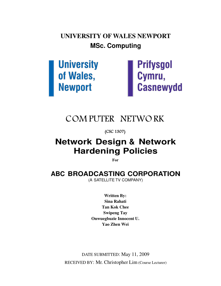 medium resolution of  pdf network design network hardening policies