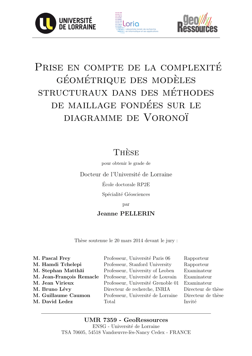 hight resolution of  pdf accounting for the geometrical complexity of geological structural models in voronoi based meshing methods